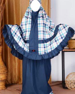 Rocella Mukena Kids Azalea Blue Berry