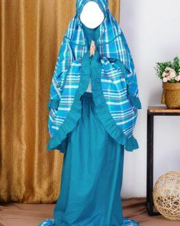 Rocella Mukena Kids Azalea Blue Marbel